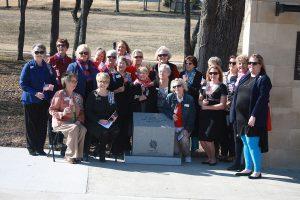 DAR Chapter members gather at memorial