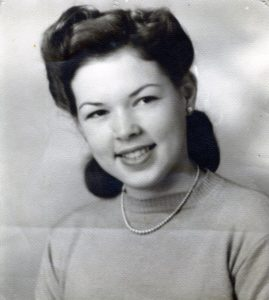 Peg's graduation photograph