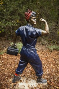 Rosie the Riveter statue, Veterans Park, College Station TX