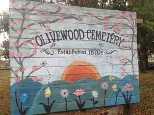 Sign for Olivewood Cemetery