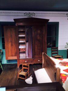 open wardrobe showing space inside