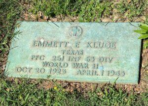Resting Site of Emmett Kluge