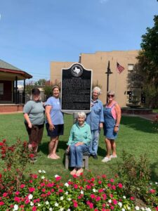 Sister Grove members at the refinished Marker