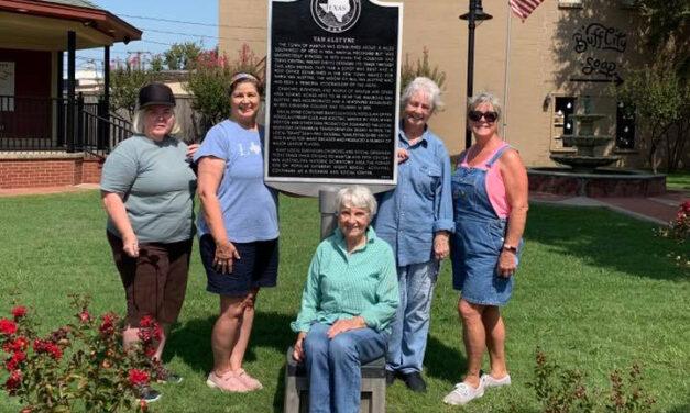 Sister Grove Chapter Refinishes Historical Marker